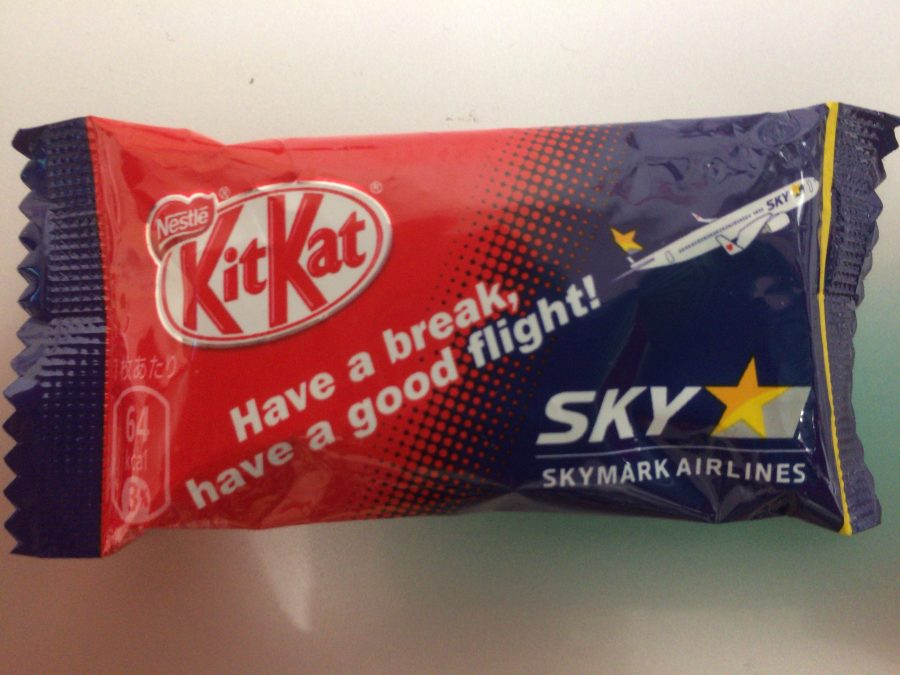機内でもらったKitKat