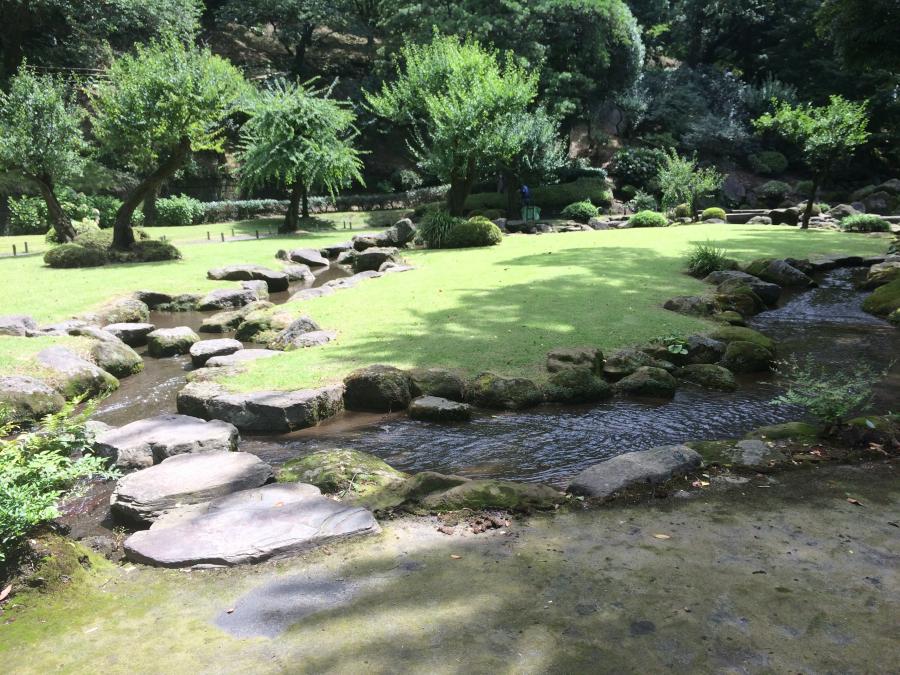 仙厳園の曲水の庭