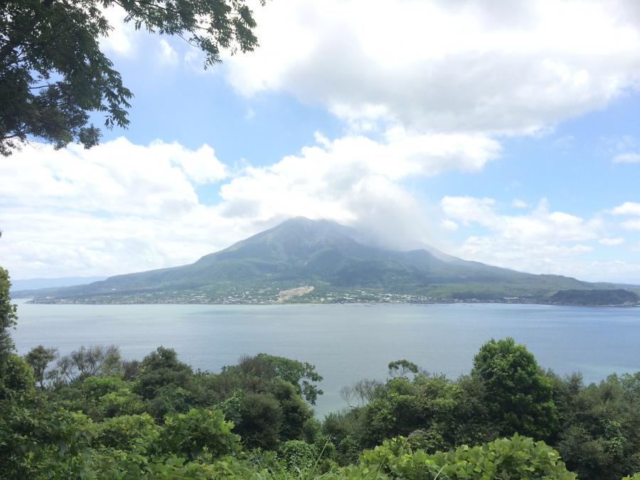 集仙台から見える桜島