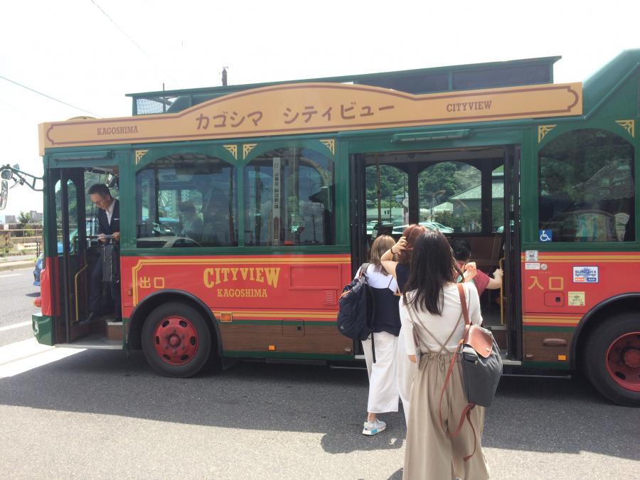 観光地を巡回するバス「カゴシマシテイビュー」