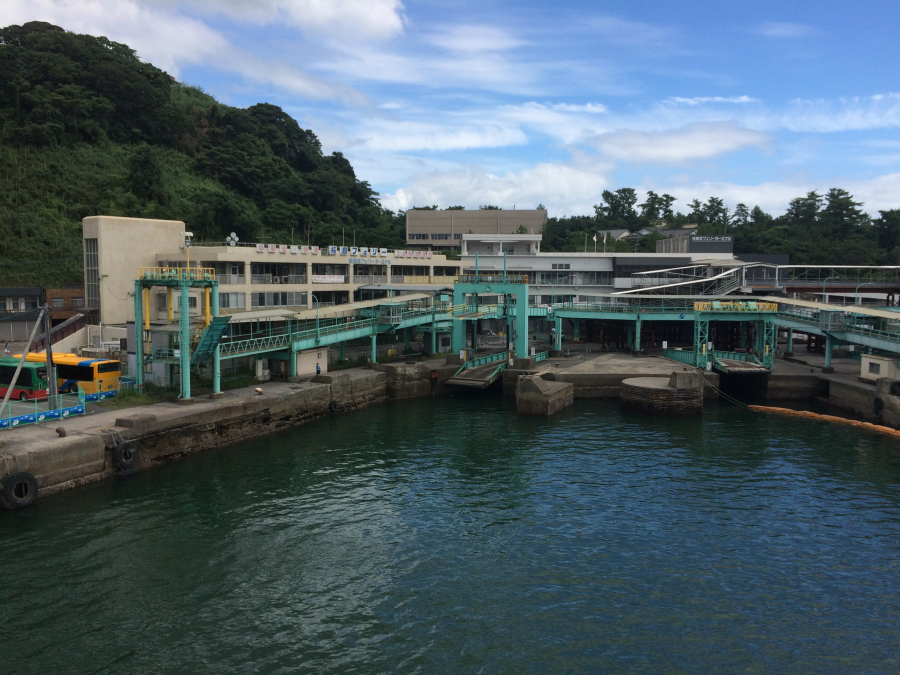 桜島港フェリーターミナルの外観