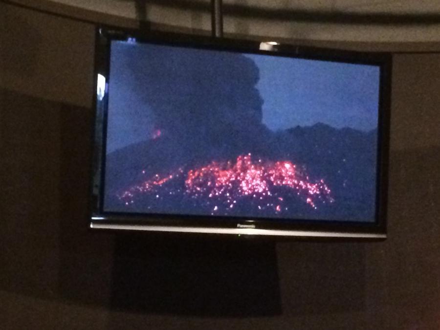 桜島が過去に噴火した映像