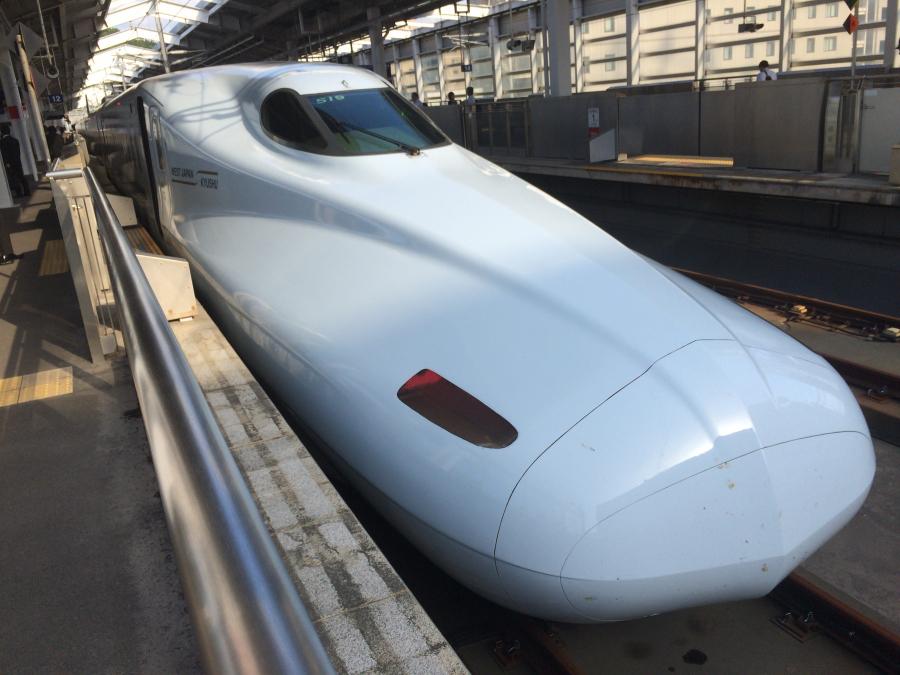 鹿児島中央駅で乗車したみずほ602号新大阪行き