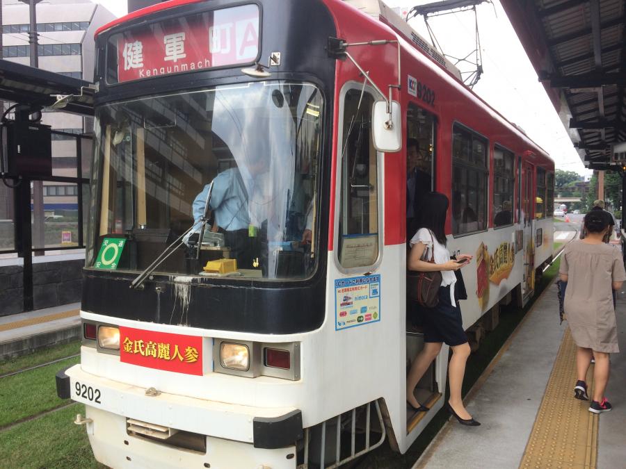 熊本市電の電車の外観