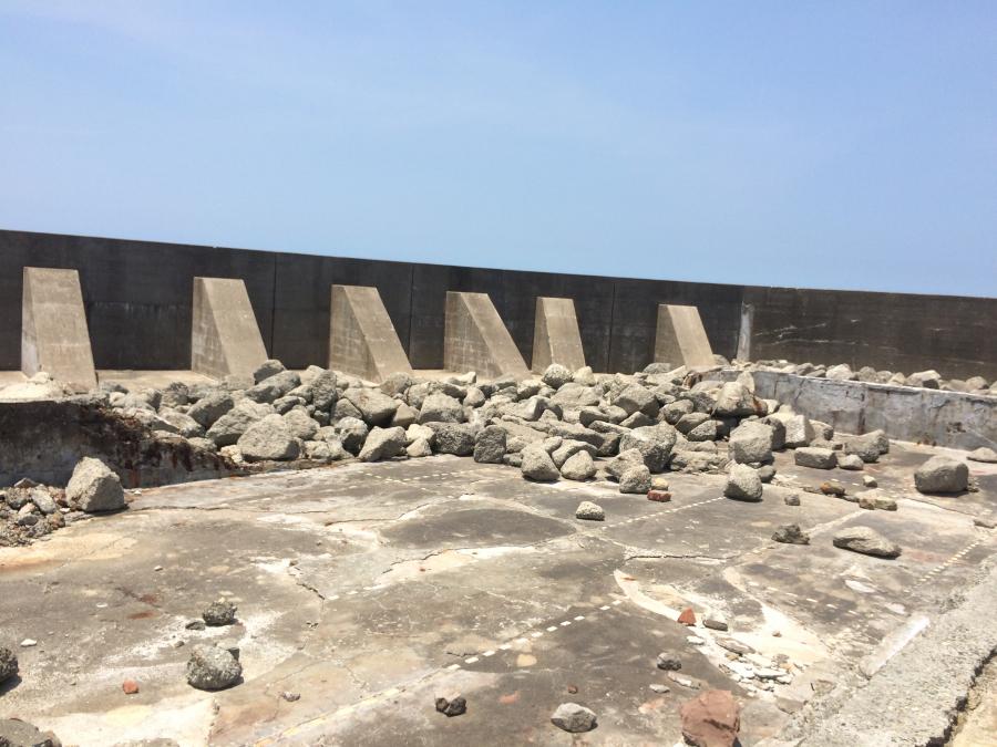 軍艦島(端島)のプール跡