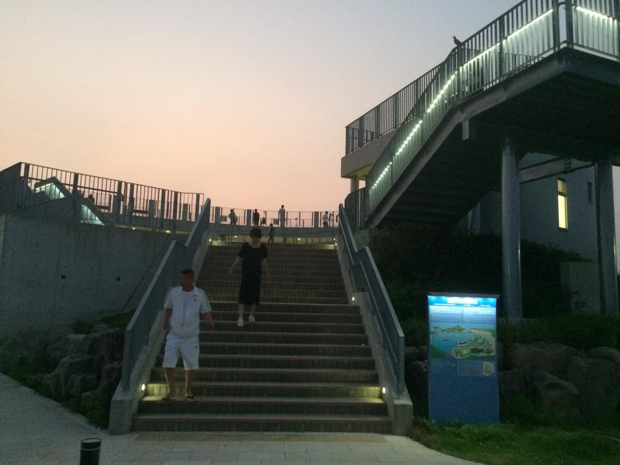 鍋冠山展望台の階段