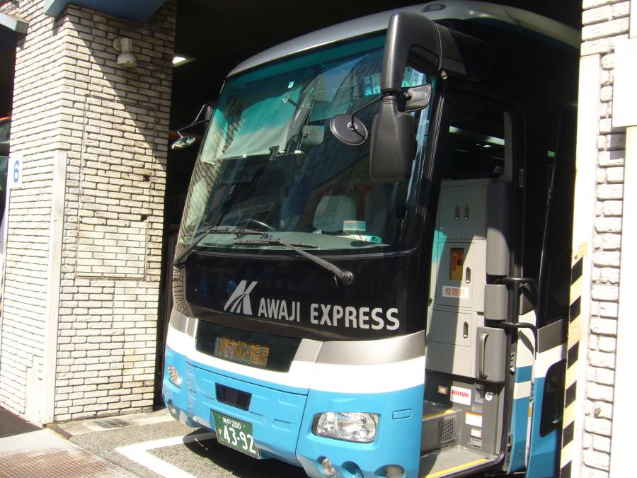 淡路島福良へ向かうバス