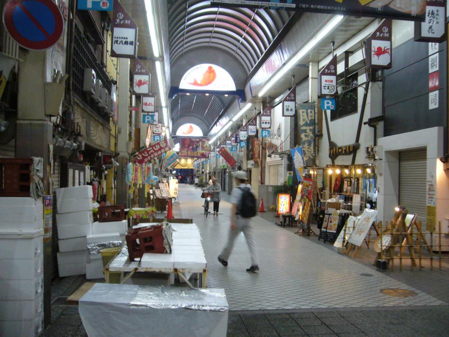 魚市場「魚の棚」の通り
