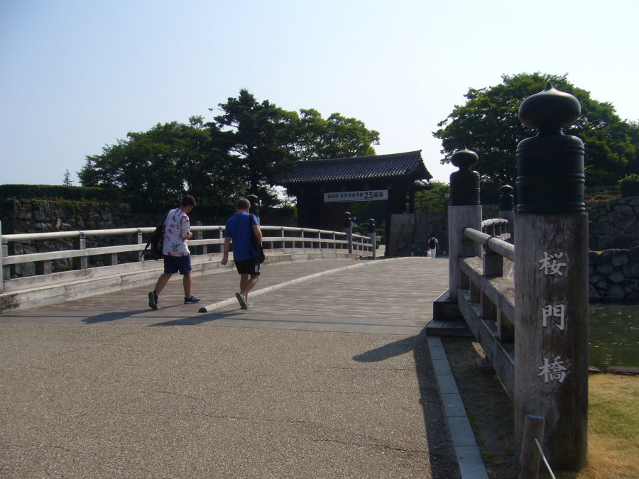 姫路城の入り口にある桜門橋
