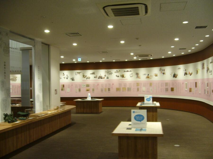 漢字ミュージアムの1階の様子
