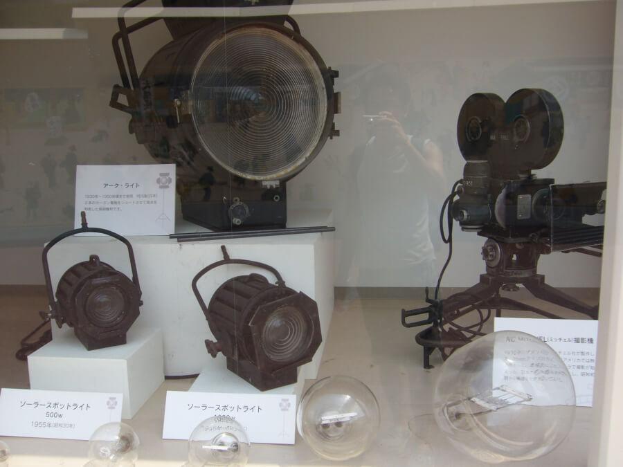 撮影に使用されたライトやカメラ