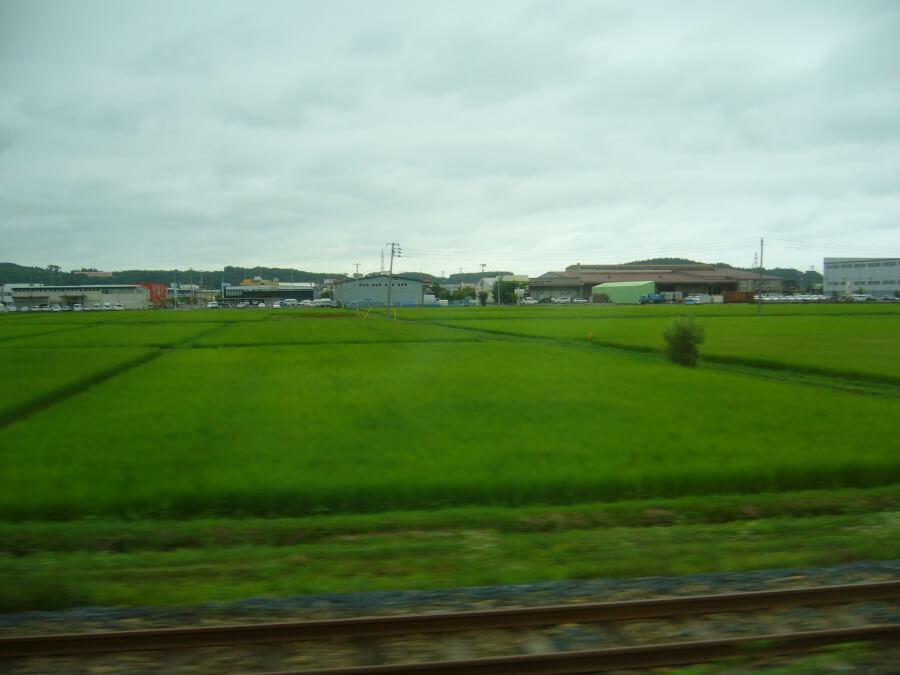 JR八戸線から眺める風景