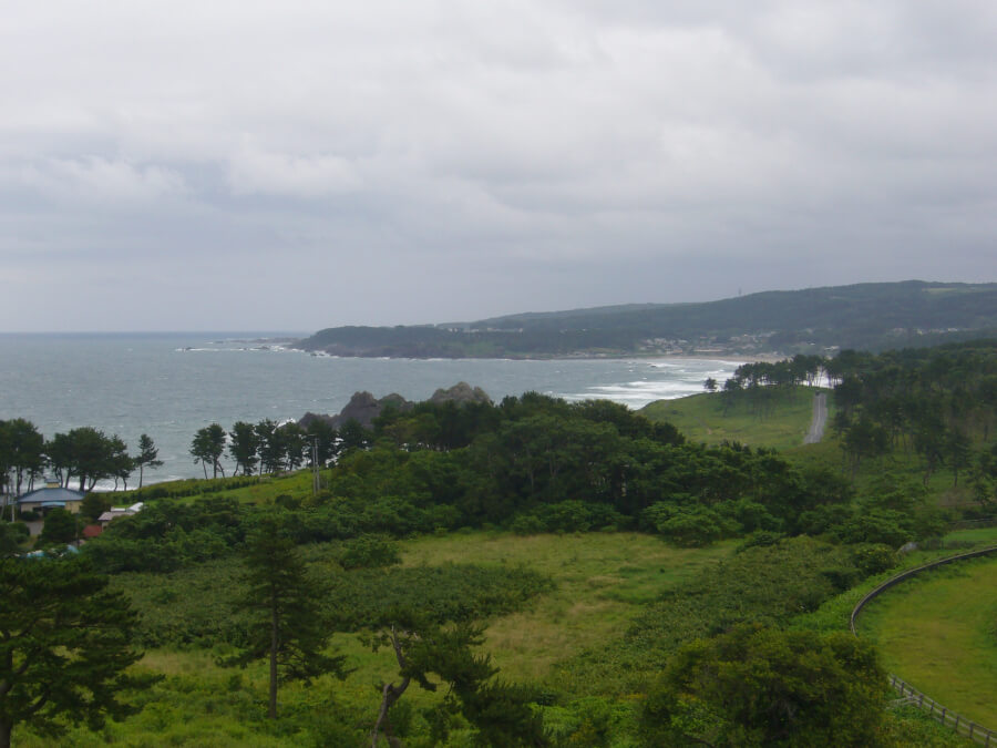 鮫角灯台から見える風景
