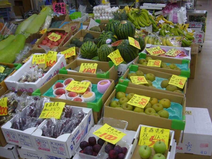 八食センターで販売されている青果
