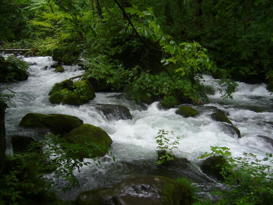石ケ戸の瀬の川