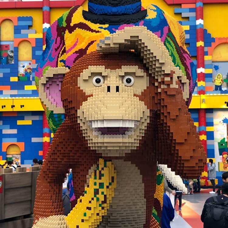レゴランドの猿