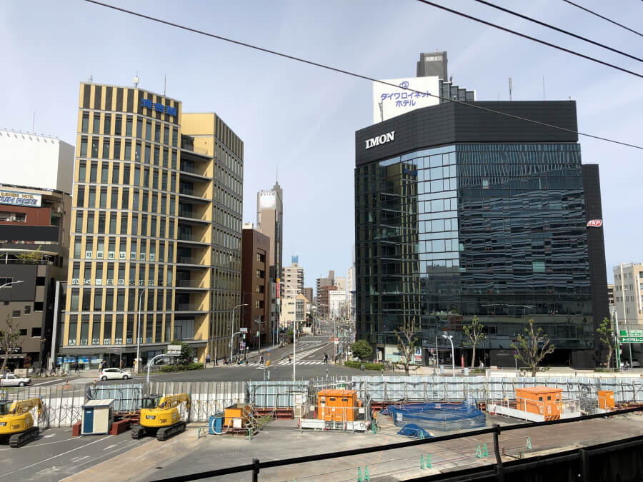 名古屋駅のホームからの景色