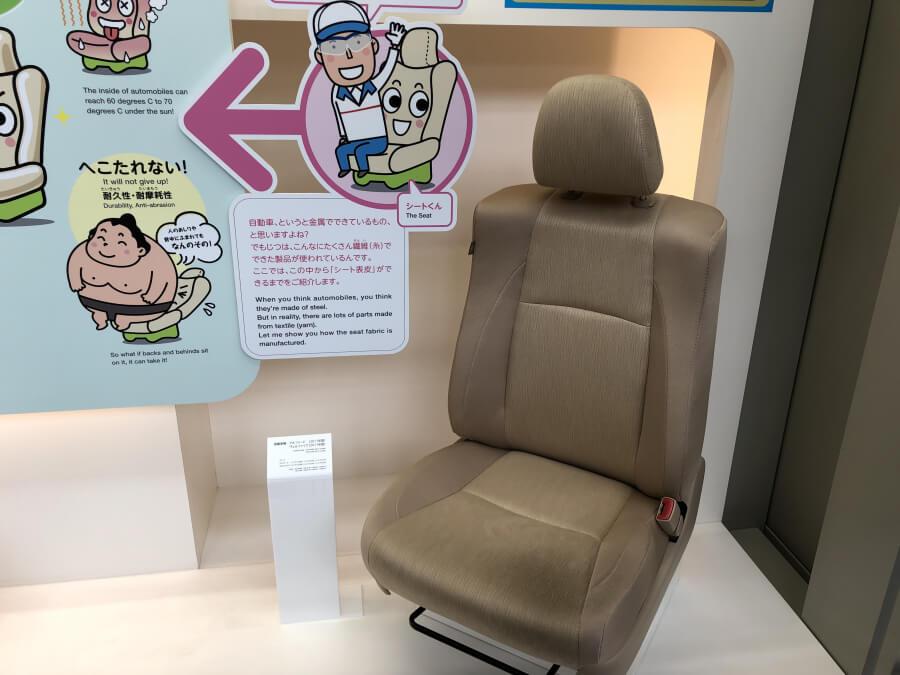 自動車の座席シート