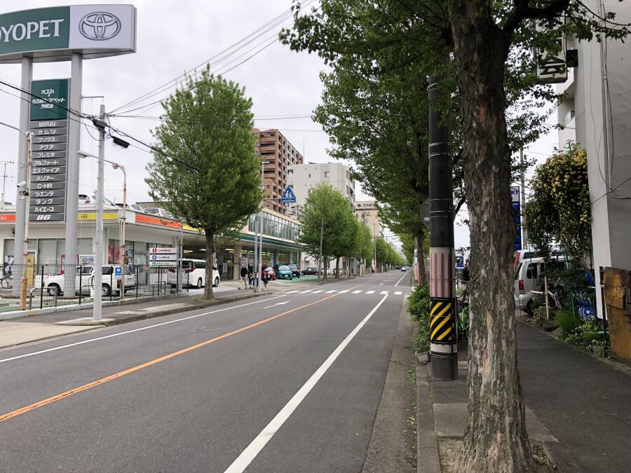 トヨタ産業技術記念館からノリタケの森へ向かう道路