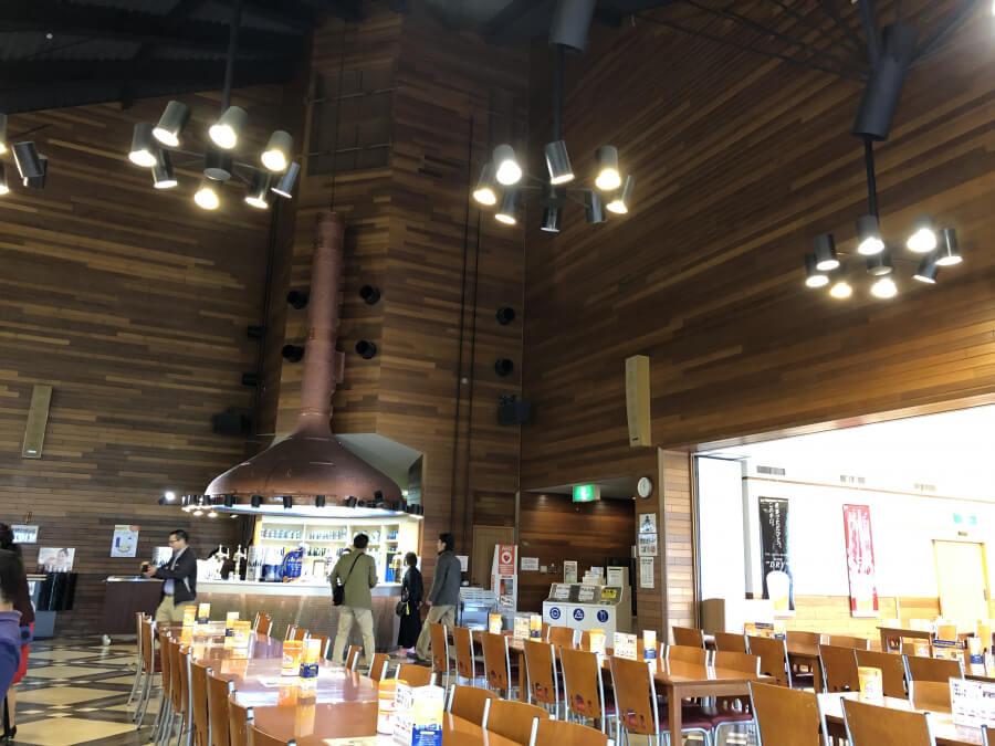 アサヒビール名古屋工場の食堂