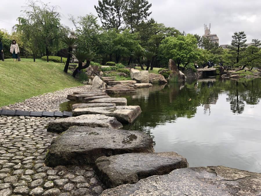 徳川園の龍仙湖