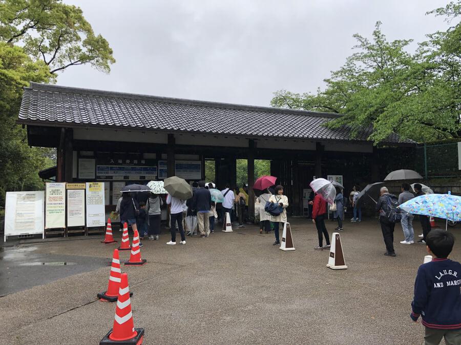 名古屋城の入場口