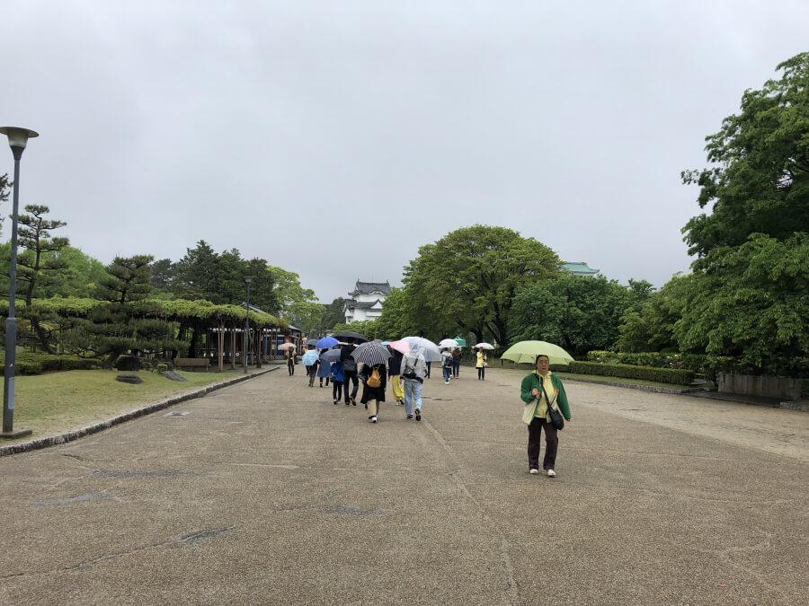 名古屋城の道