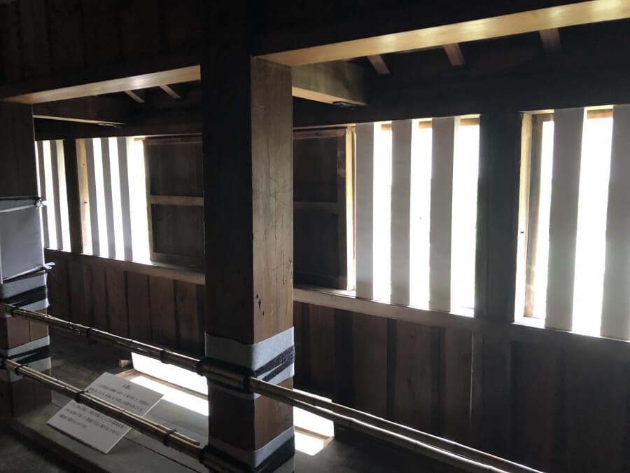 名古屋城の西南隅櫓の窓