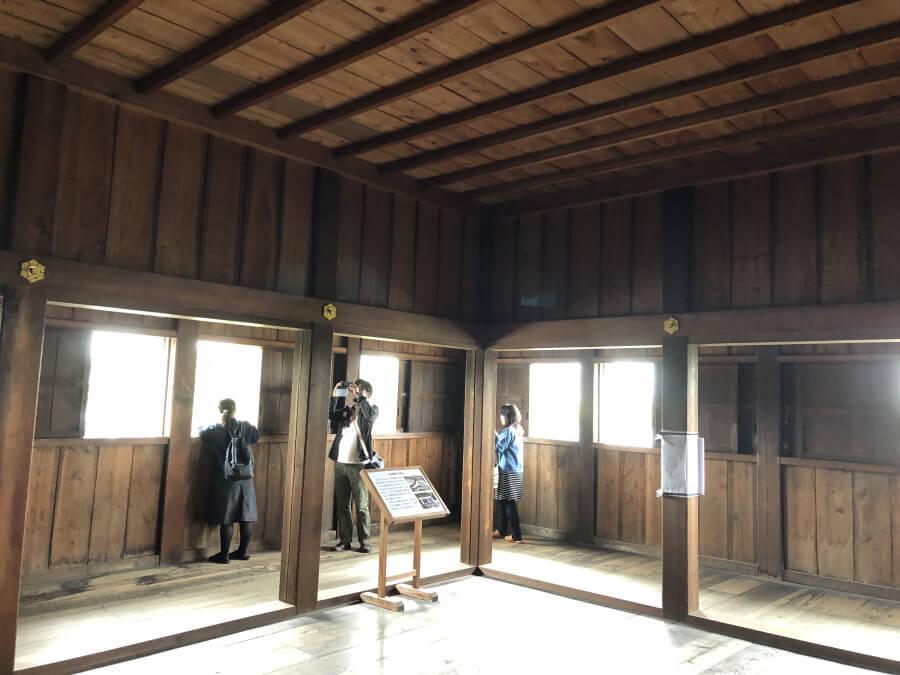 名古屋城の西南隅櫓の3階
