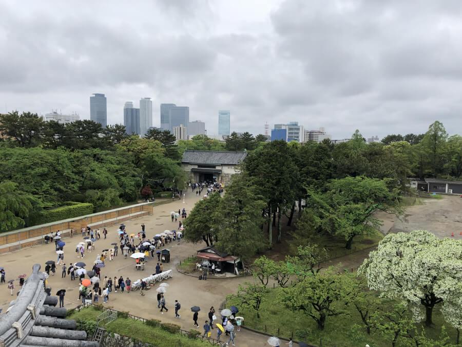 名古屋城の西南隅櫓の3階からの眺め
