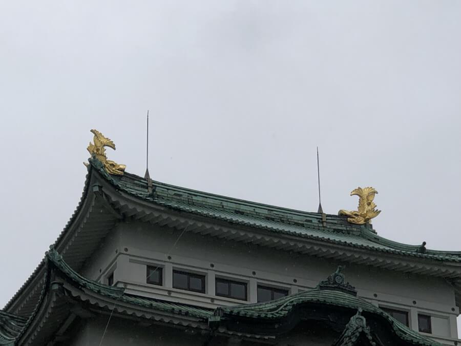 名古屋城の天守の金のシャチ