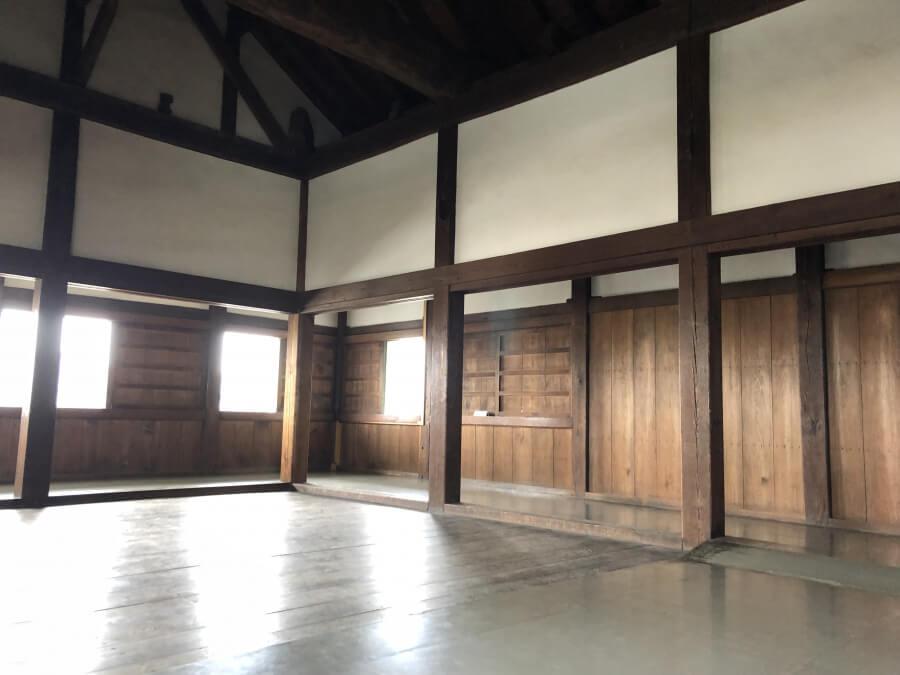 名古屋城の西北隅櫓の3階