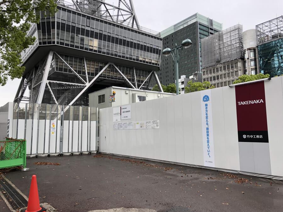 名古屋テレビ塔の工事