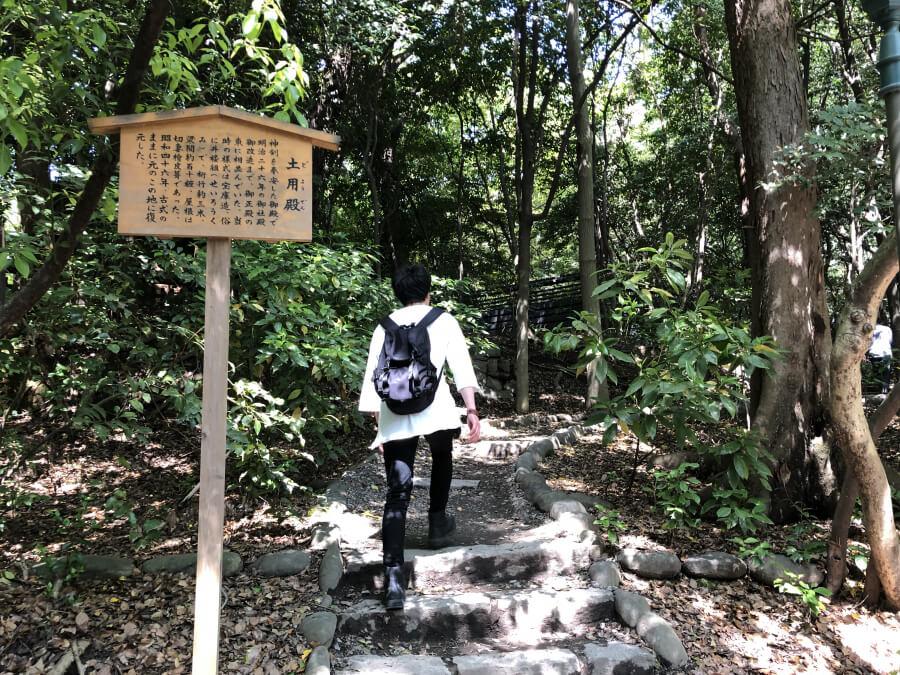 熱田神宮の土用殿に向かう道