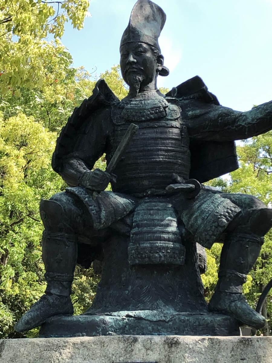 今川義元の銅像 桶狭間古戦場公園
