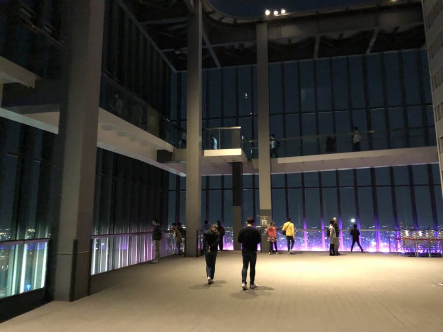ミッドランドスクエアのスカイプロムナード(屋外展望台)