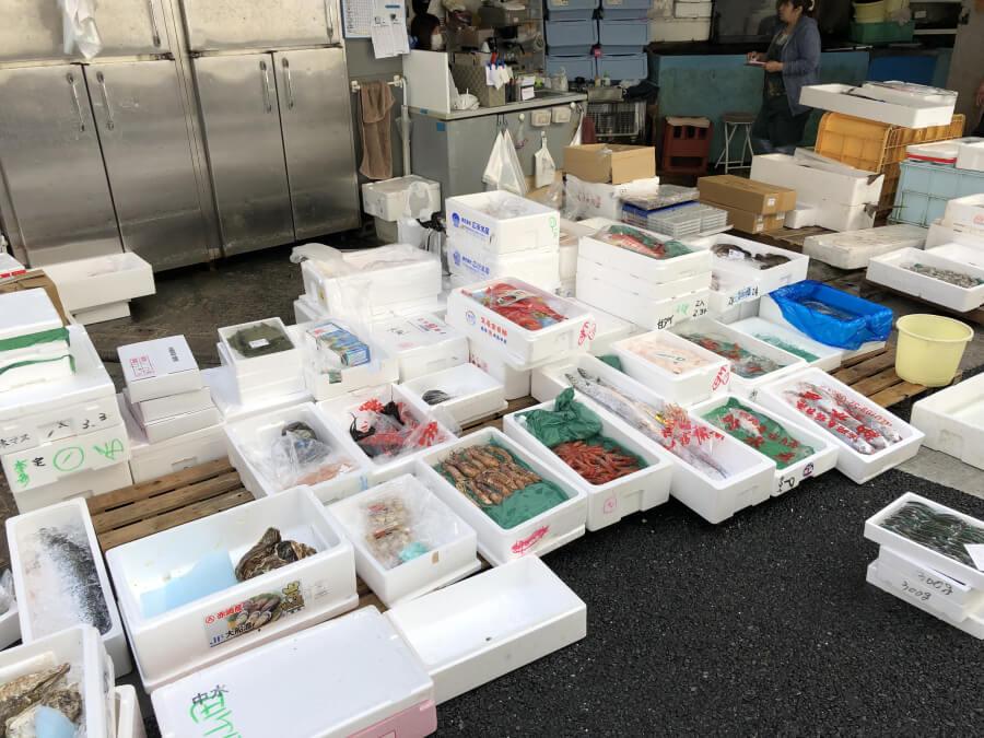 柳橋中央市場マルナカ食品センターの海鮮