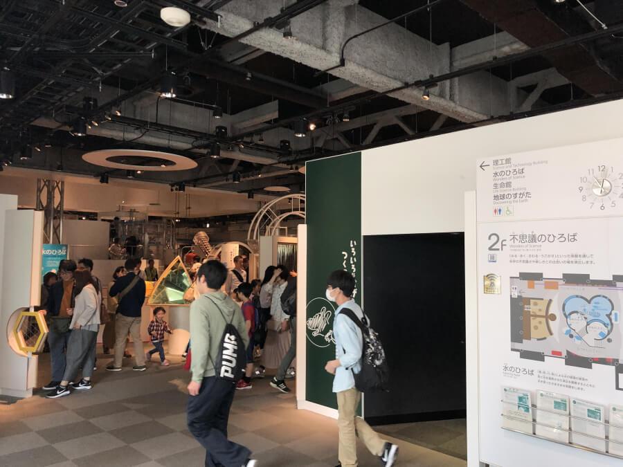 名古屋市科学館の展示室