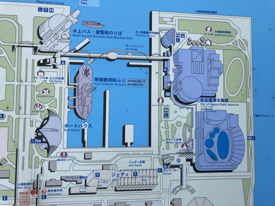 名古屋港駅周辺の地図