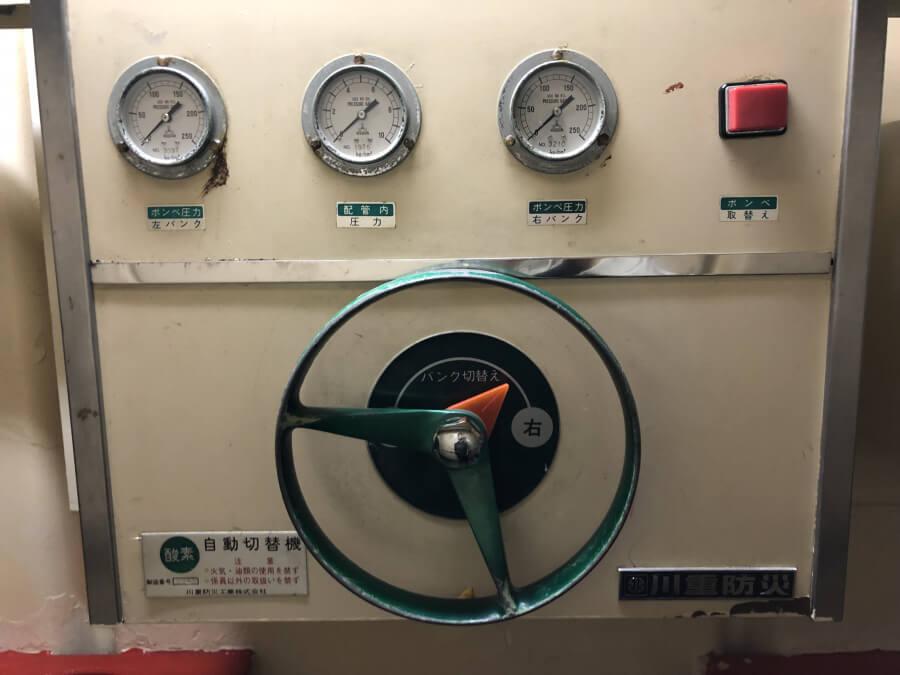 酸素・笑気自動切替器|南極観測船ふじ