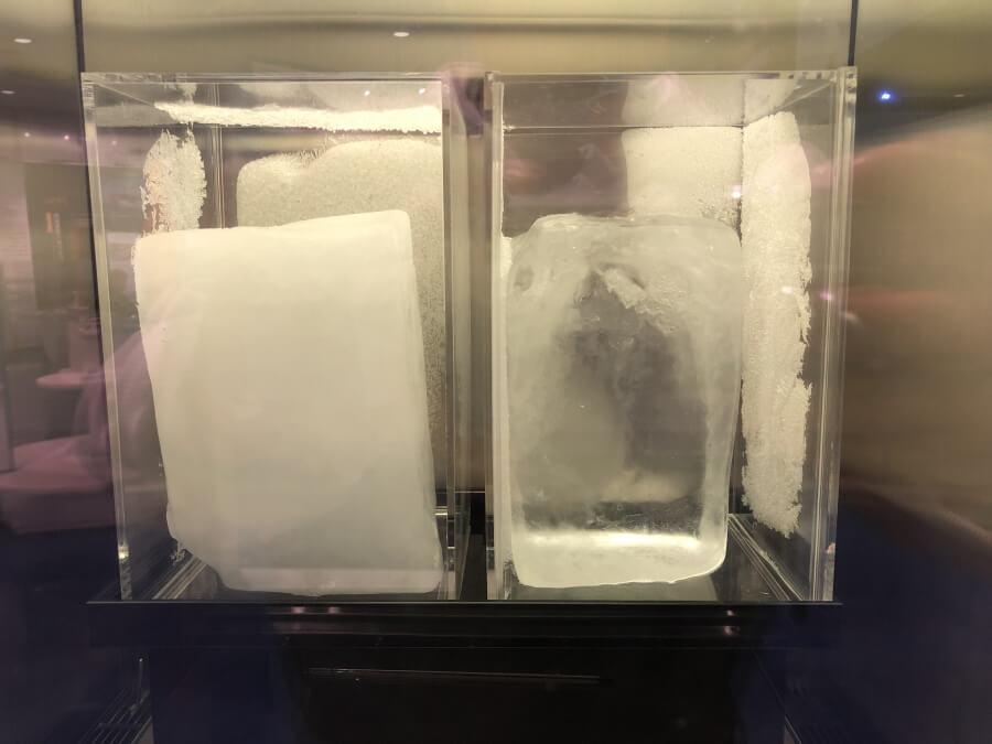 南極の氷と日本の氷