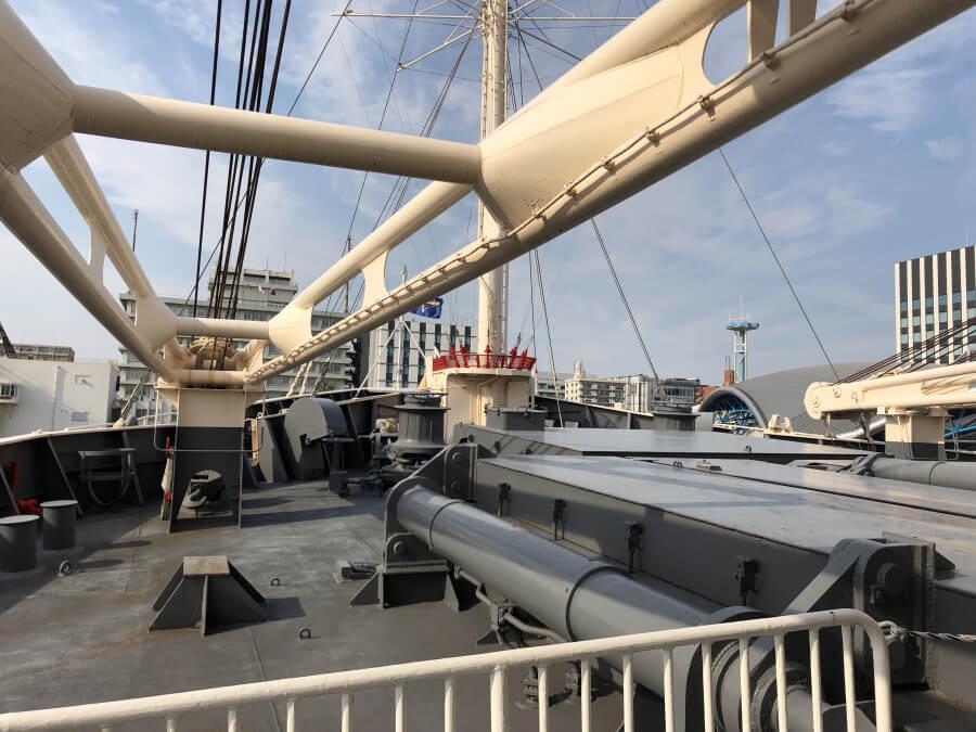 10トンデッキクレーン|南極観測船ふじ