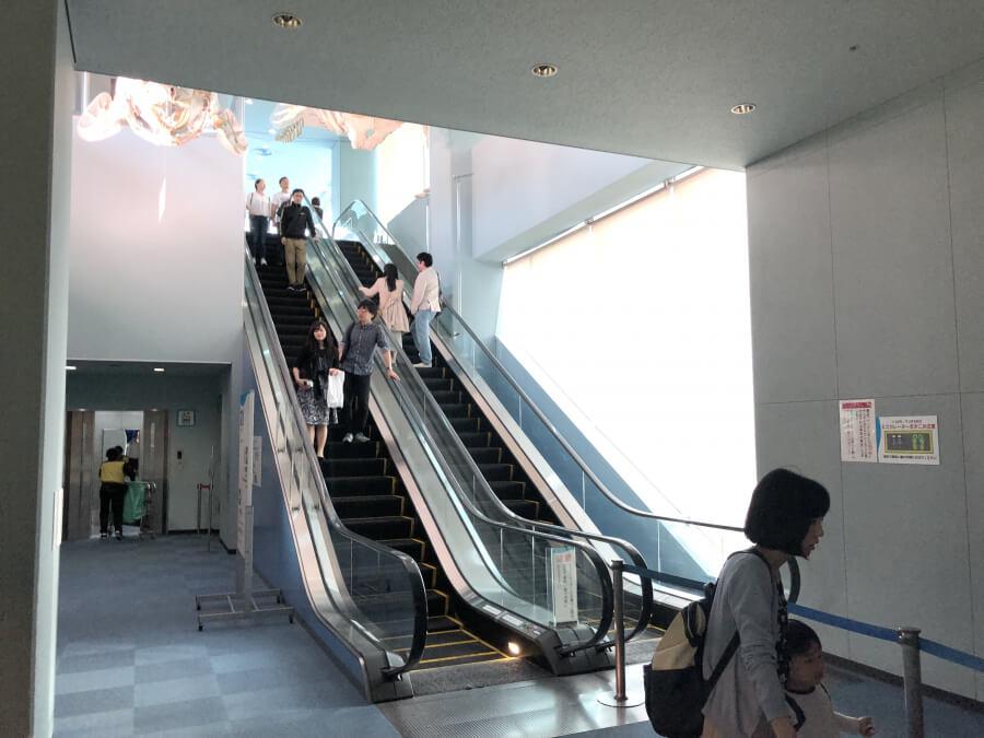 北館3階に向かうエスカレーター|名古屋港水族館