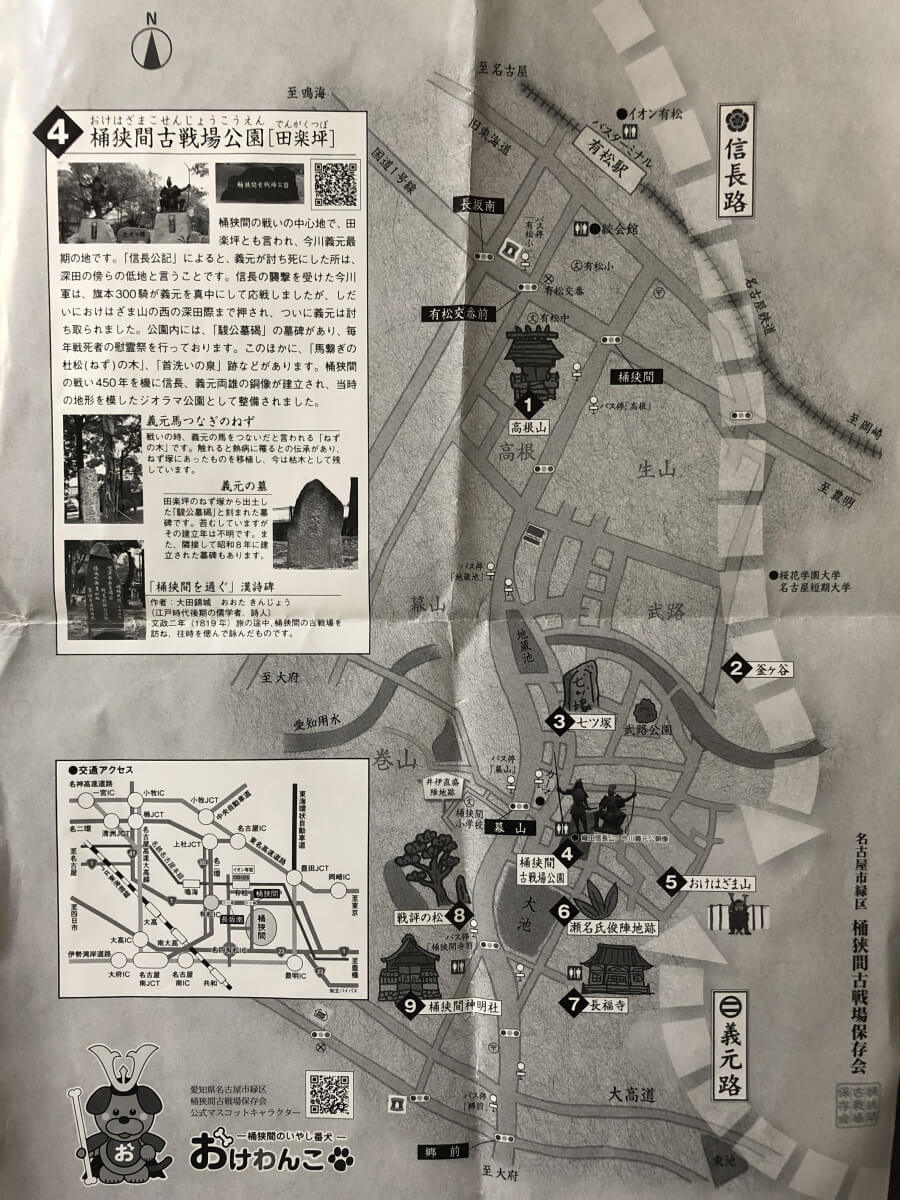 桶狭間史跡マップ