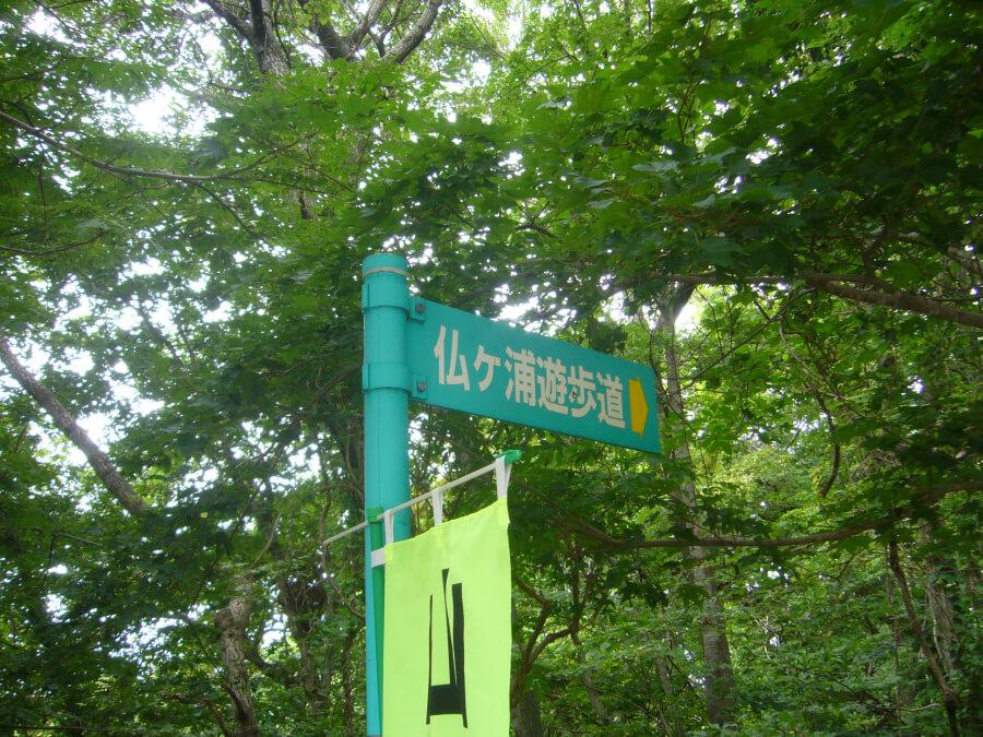 仏ヶ浦遊歩道の看板