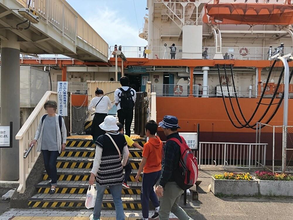 南極観測船ふじの入り口