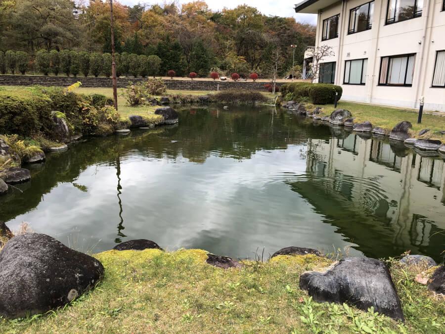 晃陽苑の池