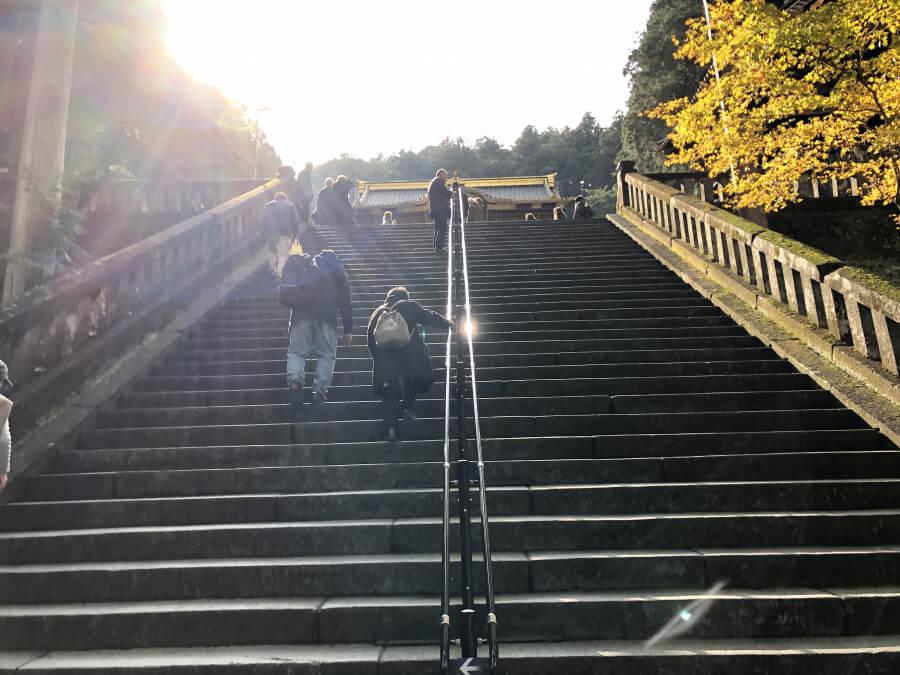 大猷院に向かう階段