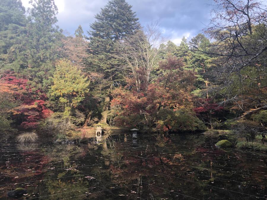 五角堂(松屋敷)の池