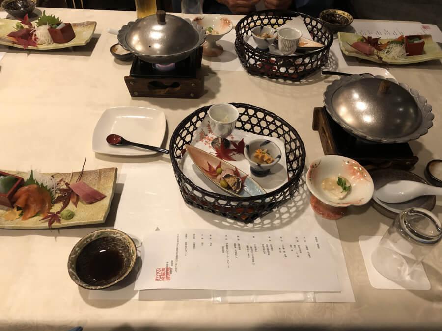 晃陽苑の夕食